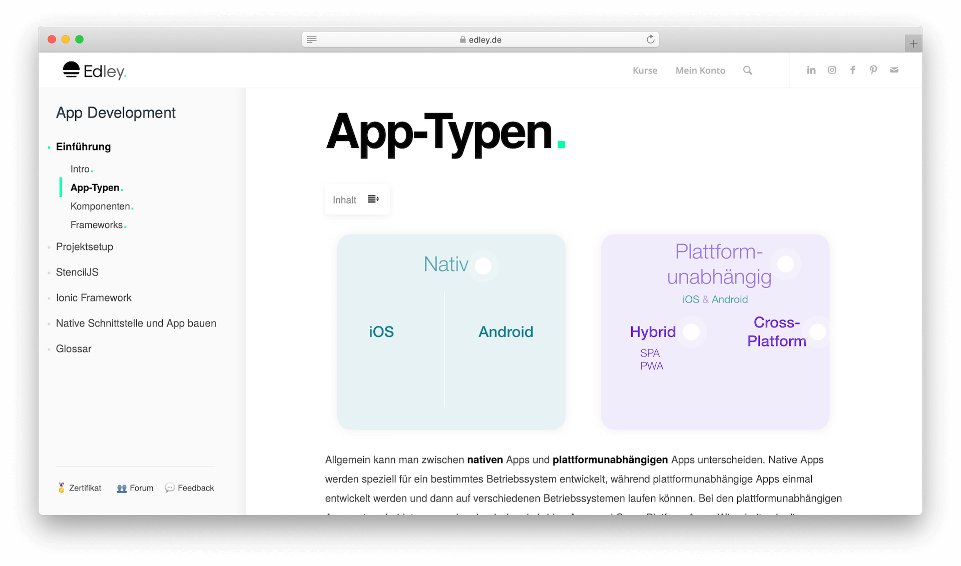 Eigene App erstellen