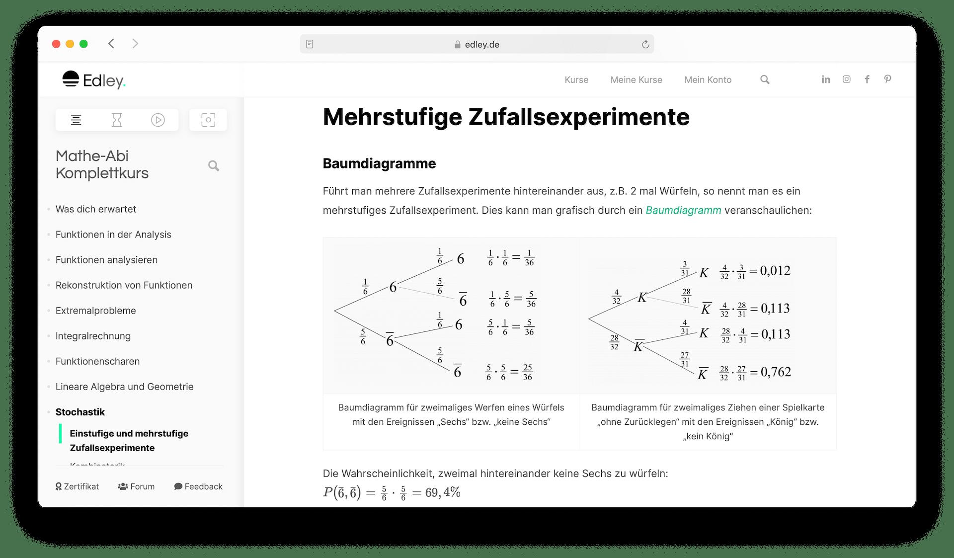 Abiturvorbereitung Mathe online