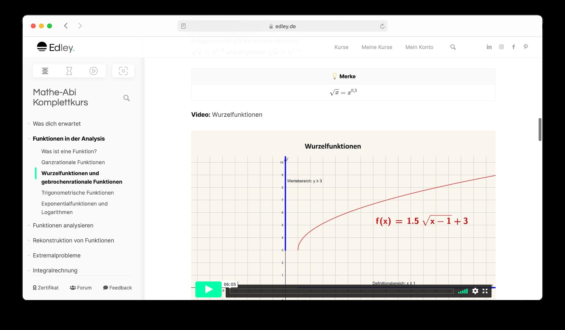 Mathe Online-Kurs
