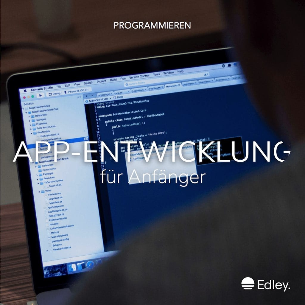 app entwickler komplettkurs mit c jetzt online auf edley. Black Bedroom Furniture Sets. Home Design Ideas