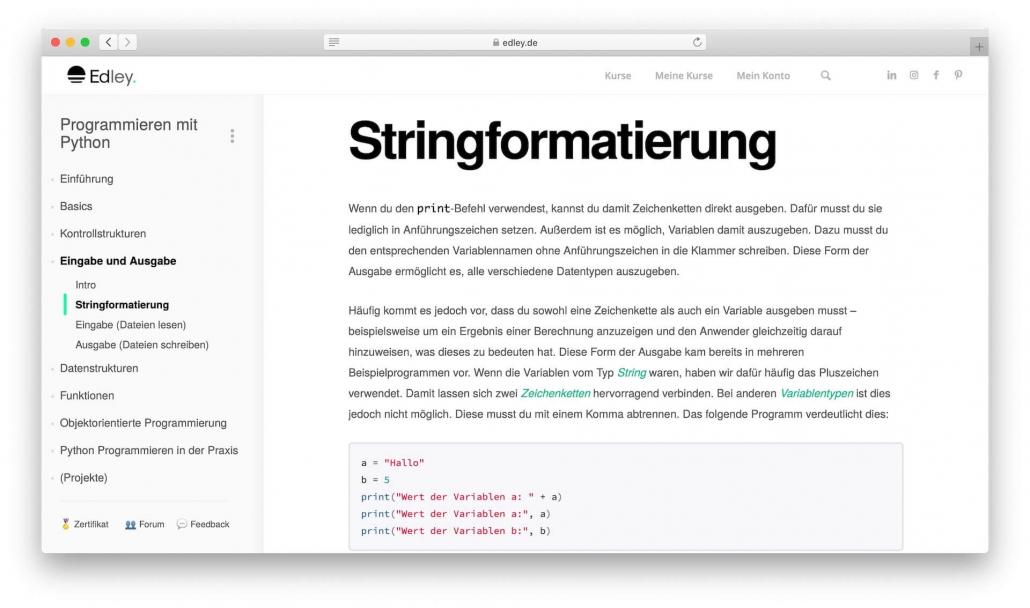 Python Stringformatierung