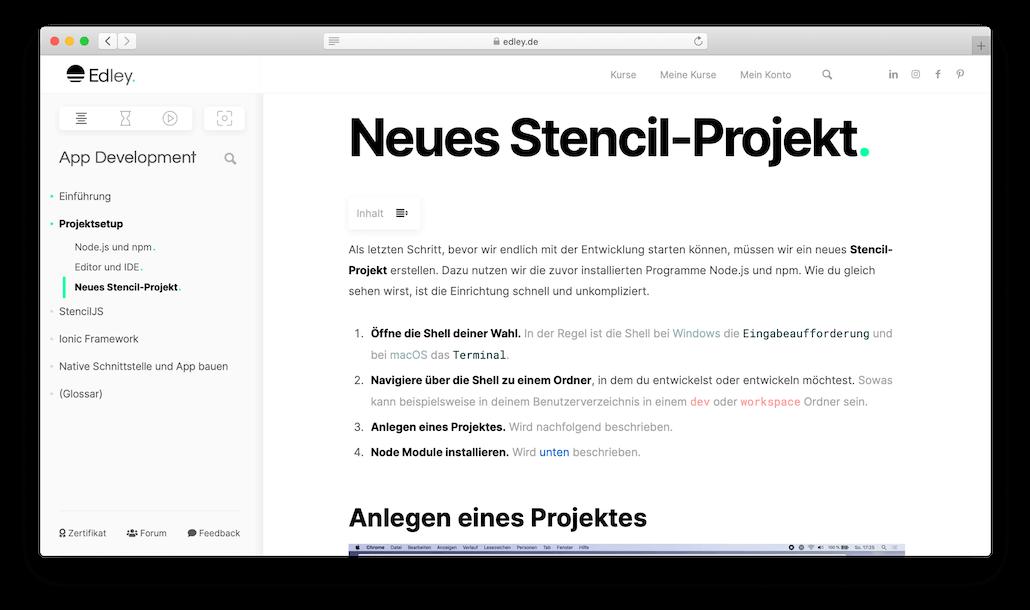 App programmieren lernen Text