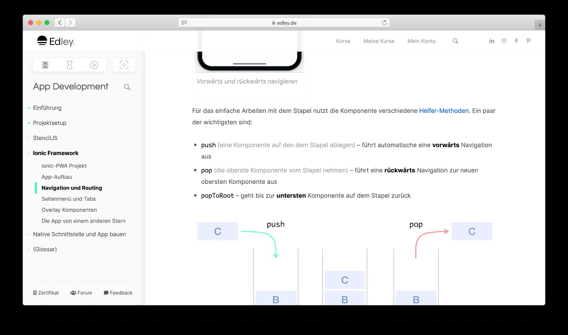 App schreiben lernen