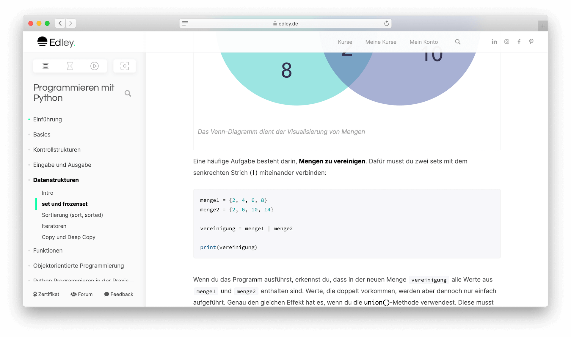 Python online lernen