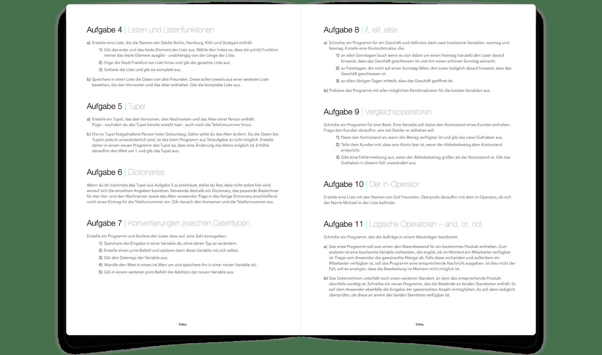 Python Kurs PDF zum online Python lernen