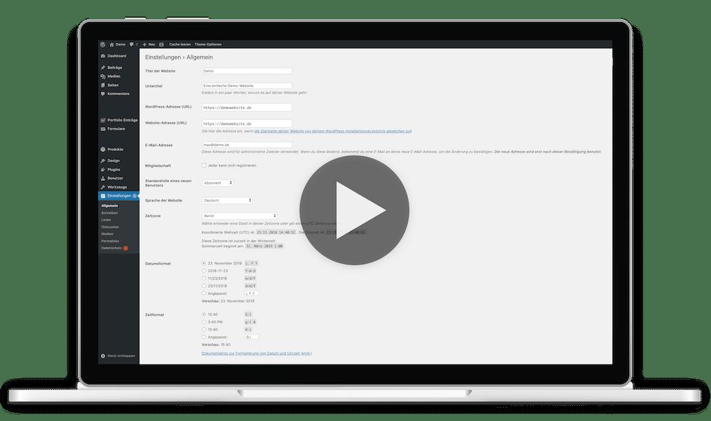 WordPress Video Kurs